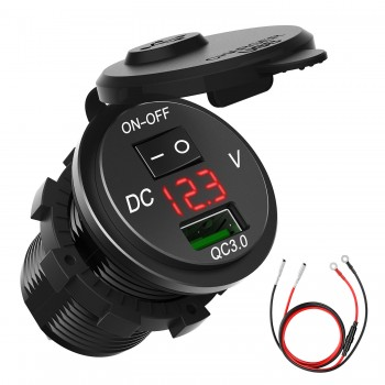 CHGeek Waterproof Quick Charge 3.0 USB Car Charger Power Outlet Adapter