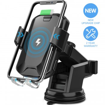 CHGeek 3-USB Car Charger with Quick Charge 3.0 + USB-C + 2.4A Smart USB 42W Car Power Adapter Fast Charging  - Black